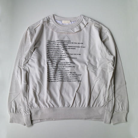 "neonsign | TRIPLE MIX SWEAT ""POEM&SICK"" 