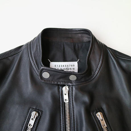 Maison Margiela | 5 ZIP LEATHER RIDERS JACKET | BLACK