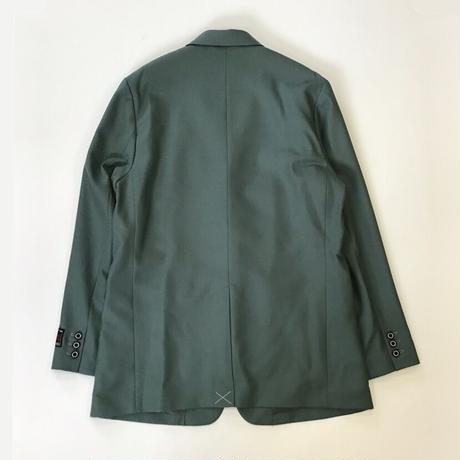 DAIRIKU | Long Wool Tailored  Jacket | Moss Green