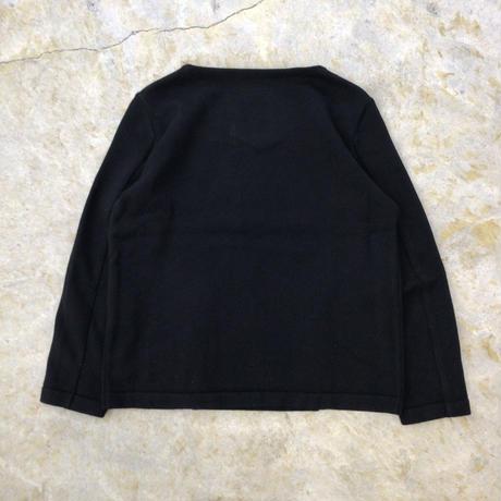 SOSHIOTSUKI   VENTED KNIT   BLACK