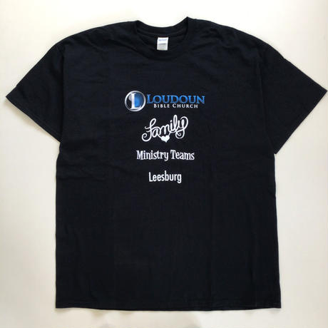 THRIFT | LOUDOUN BIBLE CHURCH T-shirt | BLACK