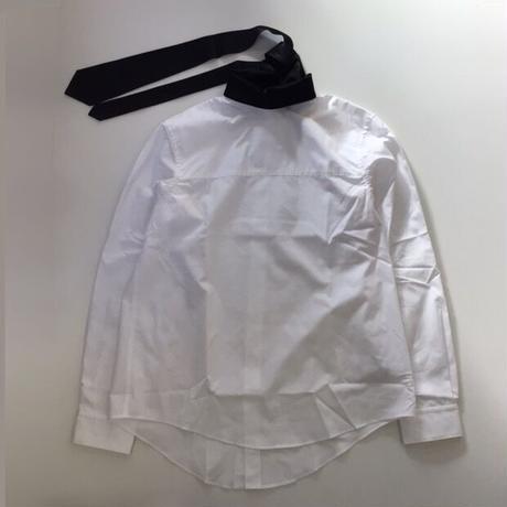 SOSHIOTSUKI | TIE COLLAR SHIRTS | WHITE