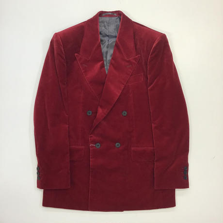 LITTLEBIG | Velvet 4B Double Breasted Jacket | RED