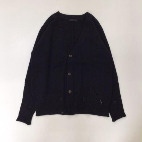 Nobuyuki Matsui | Melt down cardigan  | BLACK