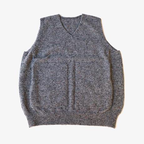 crepuscule | wholegarment knit vest  | Gray
