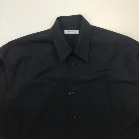 MATSUFUJI | Wool Utility Shirt | BLACK