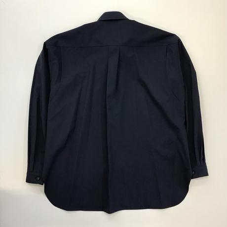 MATSUFUJI | Wool Utility Shirt | DARK BLUE