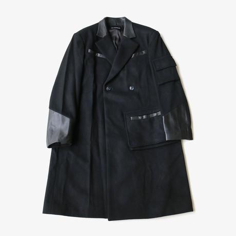 YUKI HASHIMOTO |  POCKET TED'S COAT | BLACK