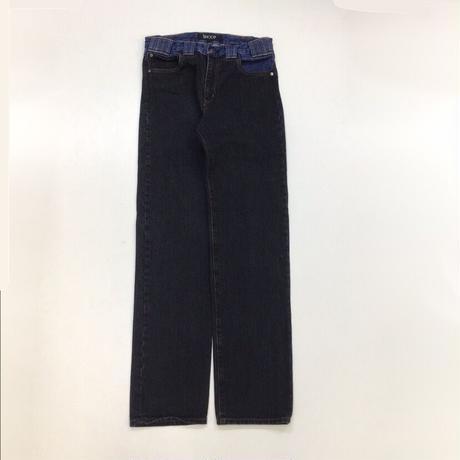 SHOOP   CHALCEDONY WASHED LOOPS DENIM PANTS    BLUE/BLACK