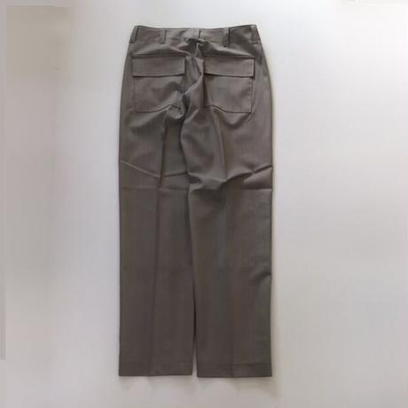 Ernie Palo | Wool Fatigue Pants   |  Beige