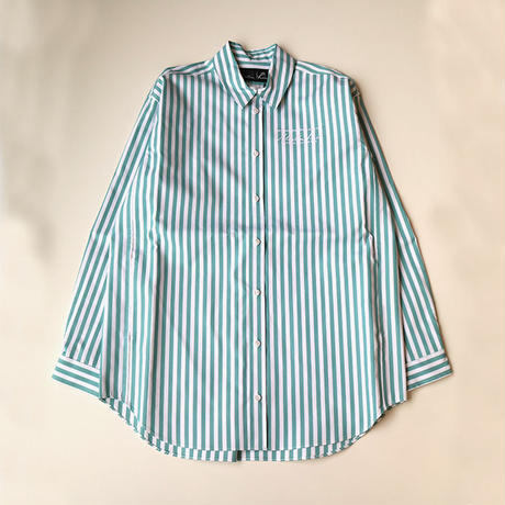 Martine Rose | OVERSIZED BONDED SHIRTS | WHITE MINT STRIPE