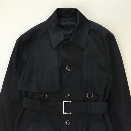 YUKI HASHIMOTO |  SINGLE TRENCH COAT | BLACK