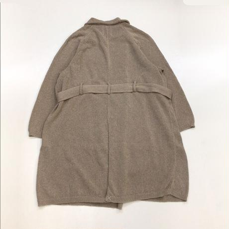 Kota Gushiken   Knitted Washi Trench Coat   Beige