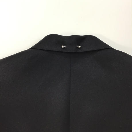 JOHNLAWRENCESULLIVAN | 1B NOTCHED LAPEL JACKET WITH BODY PIERCING JEWELRY | BLACK
