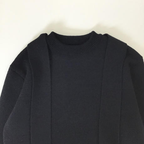 JOHNLAWRENCESULLIVAN | CN SWEATER WITH SCARF | BLACK