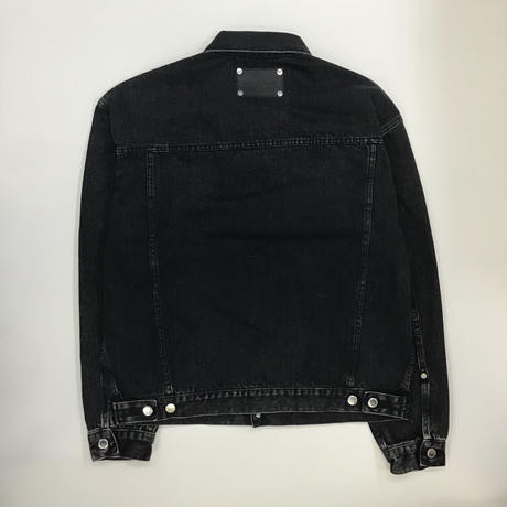 JOHNLAWRENCESULLIVAN | FRONT SIDE BELTED DENIM JACKET | BLACK