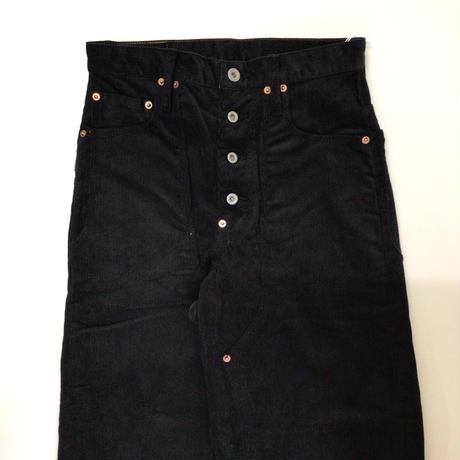 sugarhill | CORDUROY DOUBLE KNEE DENIM PANTS | BLACK