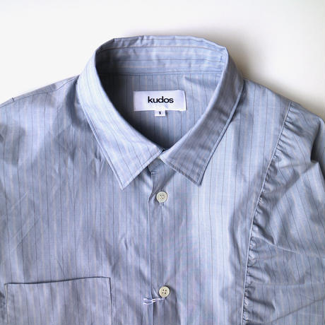 kudos | GATHERED SHIRT | BLUE
