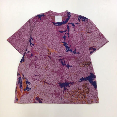 Kota Gushiken | Knitted Tye-Dye-ish T shirt | Purple