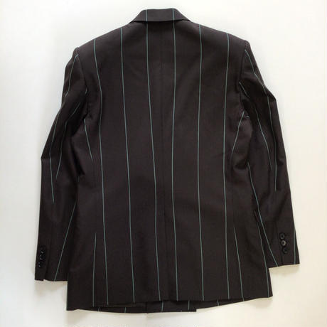 LITTLEBIG | Stripe Double Breasted Jacket | BROWN