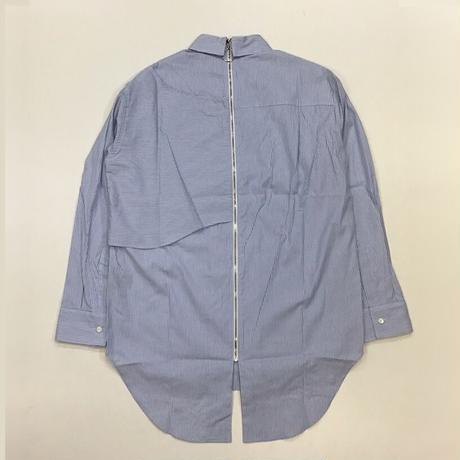 YUKI HASHIMOTO   BACK ZIPPED SHIRTS   BLUE STRIPE