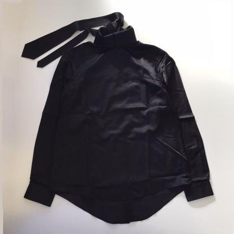 SOSHIOTSUKI   TIE COLLAR SHIRTS   BLACK