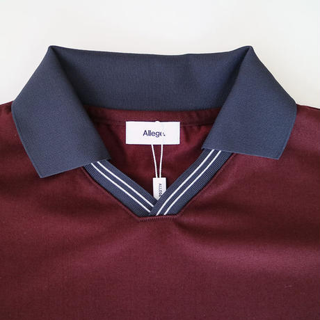 ALLEGE | V neck line t-shirt  |   WINE
