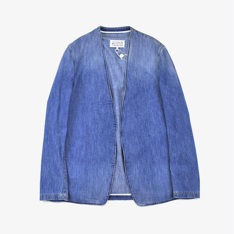 Maison Margiela | NO COLLAR DENIM JACKET | LIGHT INDIGO