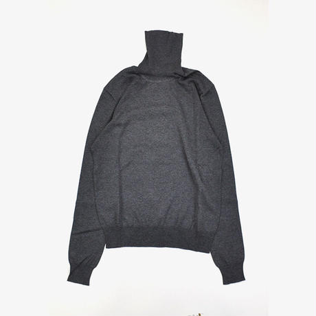 Maison Margiela | ELBOW PATCH TURTLENECK SWEATER | Grey Melange