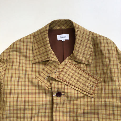 kudos   CHECK PATCH COAT   BEIGE