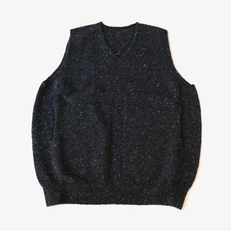 crepuscule | wholegarment knit vest  | Black