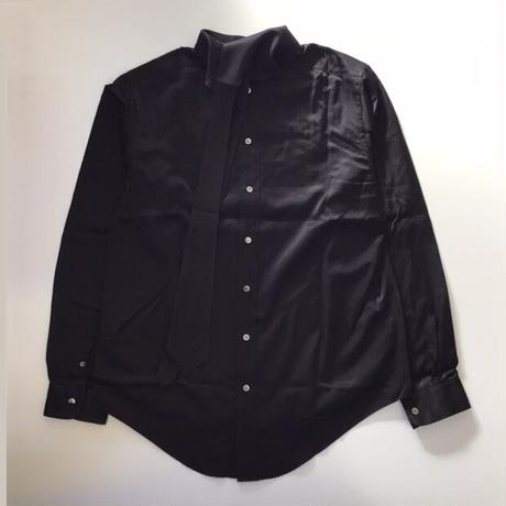SOSHIOTSUKI | TIE COLLAR SHIRTS | BLACK