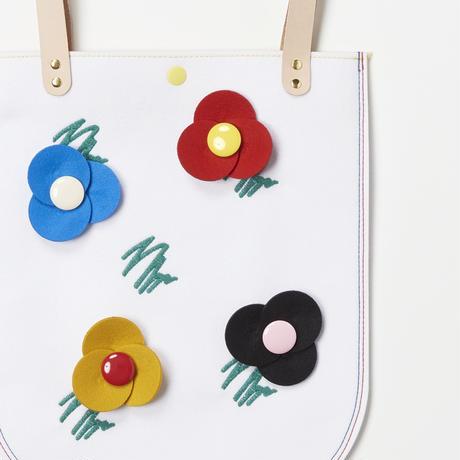 Doodle Flower Bag  (WHITE)