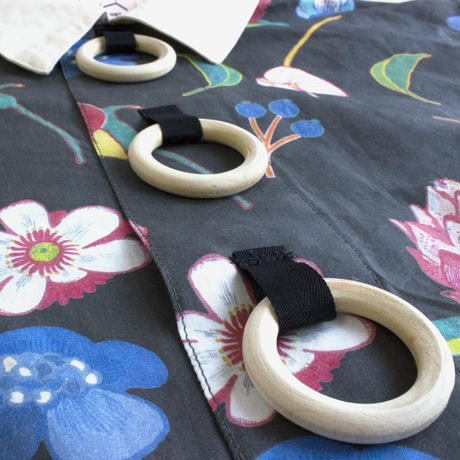 Wood Ring Short Blouse ( No Sleeves )