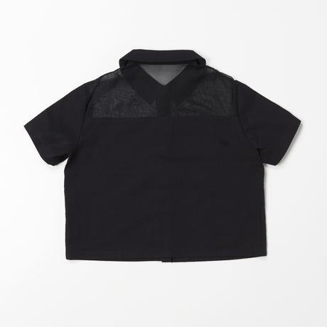 Doodle Stitch Blouse (BLACK)