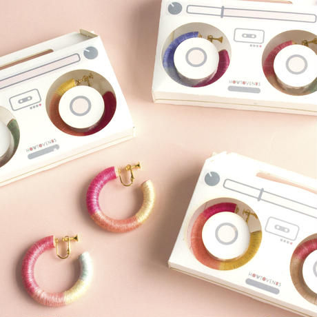 Wood Ring Earring