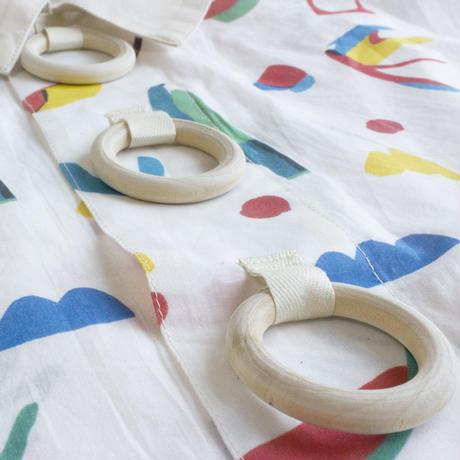 Wood Ring Short Blouse ( No Sleeves ) WHITE
