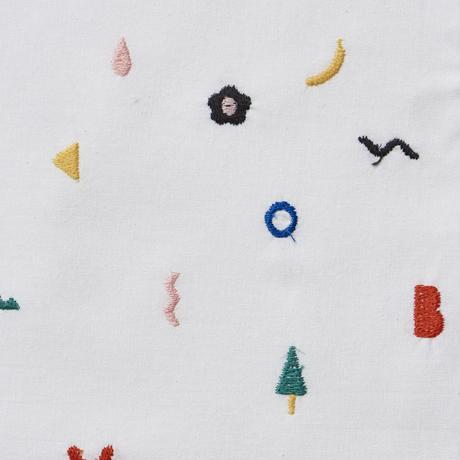 Doodle Stitch Blouse (WHITE)