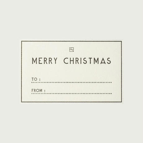 MASSAGE LABEL (Set of 5)/ MERRY CHRISTMAS