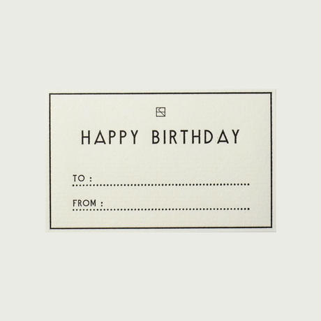 MASSAGE LABEL (Set of 5)/ HAPPY BIRTHDAY