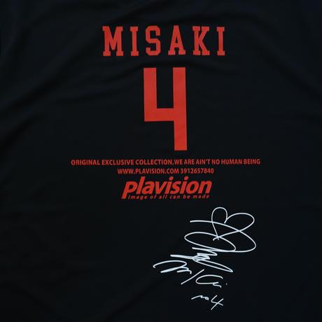 飯塚美沙希選手サイン入りTシャツ(ブラック)
