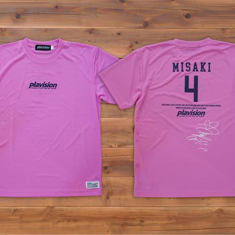 飯塚美沙希選手サイン入りTシャツ(ピンク)