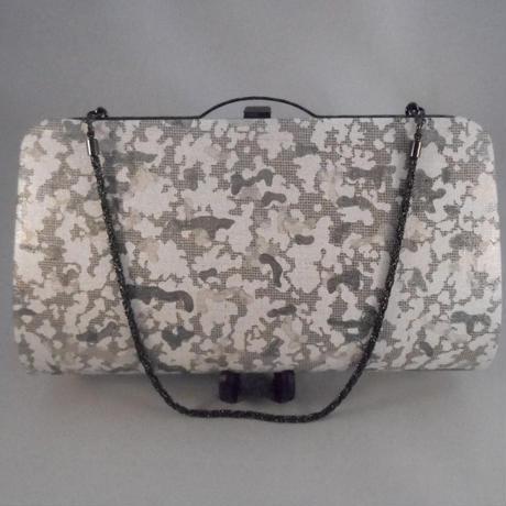 平織デニム使用 カモフラ・迷彩 クラッチバッグ