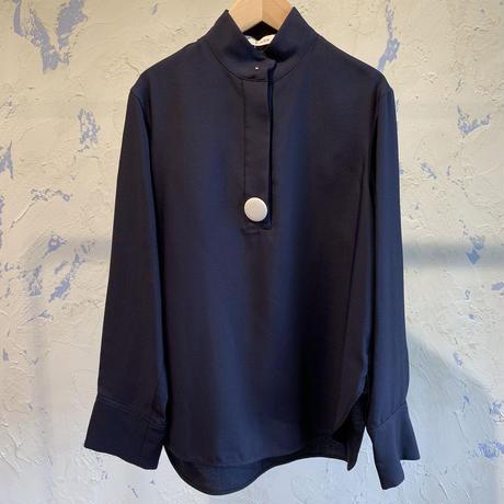 CINOH 19WST009 BIG BADGE STAND COLLAR SHIRT/チノビッグバッジスタンドカラーシャツ