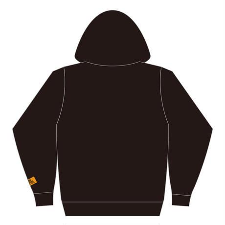 ロゴ刺繍パーカー 【ブラック】