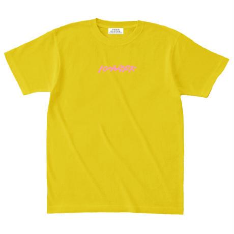 ロゴ刺繍Tシャツ【イエロー】