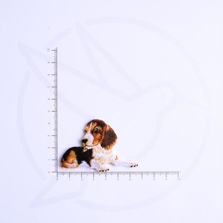 アイロンワッペン【お座りビーグル dog】アメリカ
