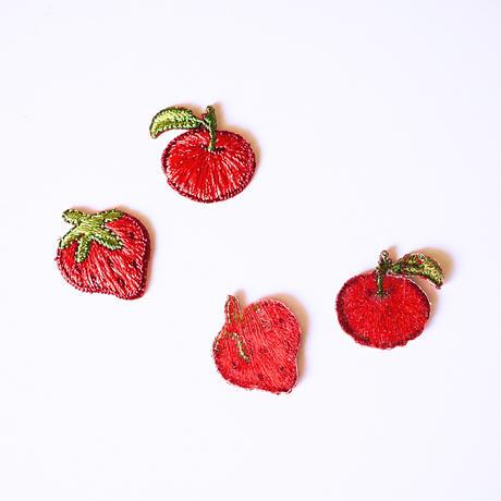 アイロンワッペン【イチゴ りんご 2個セット】アメリカ