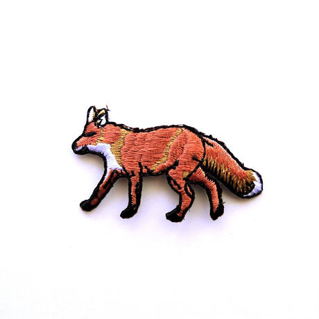 アイロンワッペン【キツネ 北狐】アメリカ