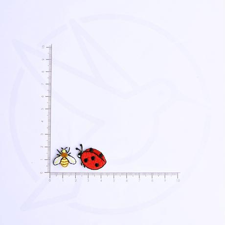 アイロンワッペン【てんとう虫とミツバチの2枚セット】アメリカ